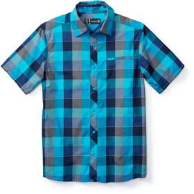 Smartwool Everyday Exploration Retro Plaid SS Shirt Men Sea Blue